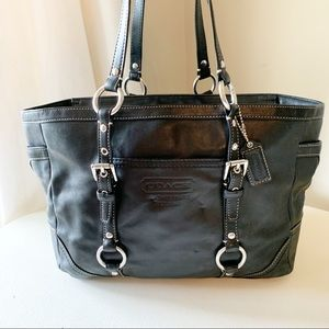 Coach - East West Gallery Leather Shoulder Black